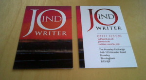 Jo Ind's business cards