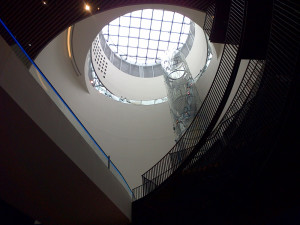 View of the skylight in the Library of Birmingham